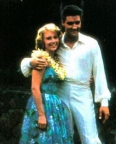 Darlene Tompkins and Elvis Presley.