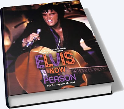 Elvis Now In Person 1969 Large Hardcover Book.