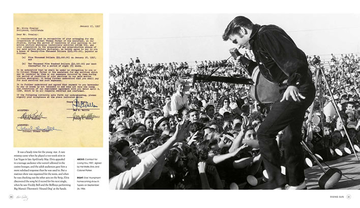 'Elvis: The Legend: The Authorized Book from the Graceland Archives' Hardcover Book.