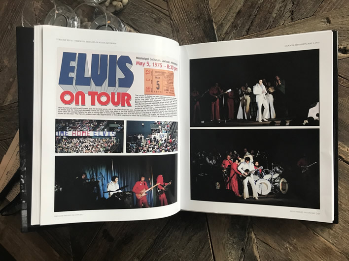 'Strictly Elvis': 1973-1974-1975: Through The Lens Of Keith Alverson Hardcover Book.