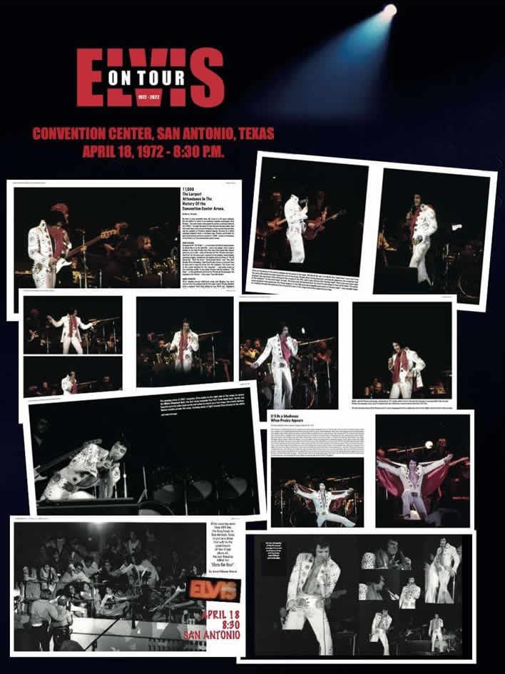 Elvis On Tour 1972-2022 3 Large 3kg (6.61 lbs) Hardcover Books from Erik Lorentzen.