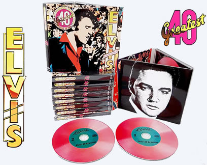 Elvis: 40 Greatest! 'Pink Album' 2 CD Set
