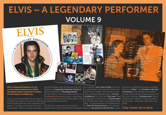 Elvis: A Legendary Performer Volume 9 CD