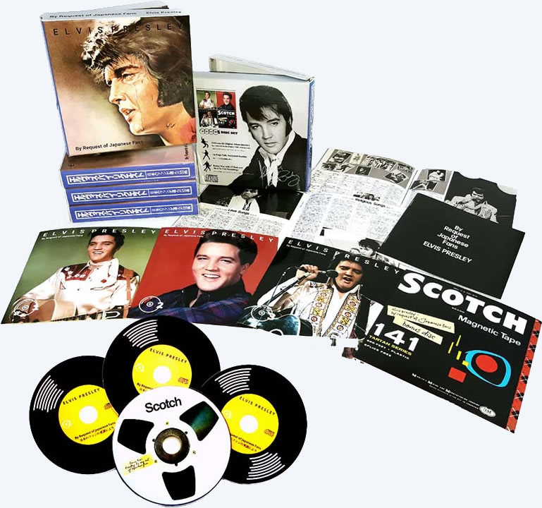 Elvis By Request Of Japanese Fans 4 CD Set