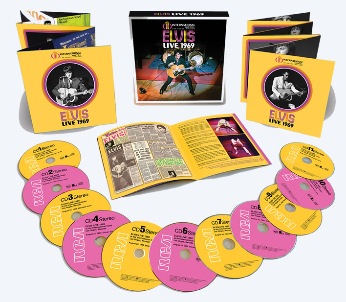 Elvis Live 1969 Limited Edition 11 CD Boxset from Sony Music