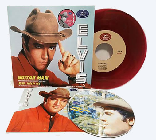 Guitar Man / Help Me Jarvis Records 45 RPM + CD