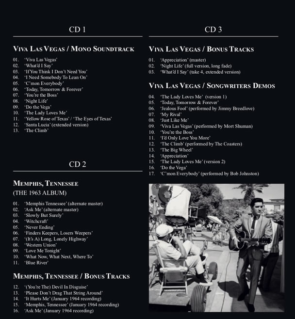 'The Making of Viva Las Vegas' Books and CD Set from FTD | CD Tracklisting.