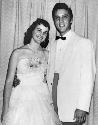 Dixie Locke and Elvis Presley at her junior prom in Memphis, May 6, 1955.