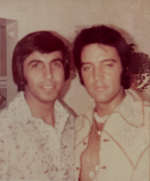 Doctor Elias Ghanem and Elvis Presley.