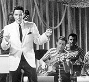 Hal Blaine can also be spotted in Elvis' backing bands in some of those films. (back right in photo.)