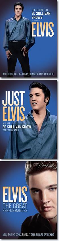 Elvis Ed Sullivan Performances DVD re-releases | upgraded high definition video.