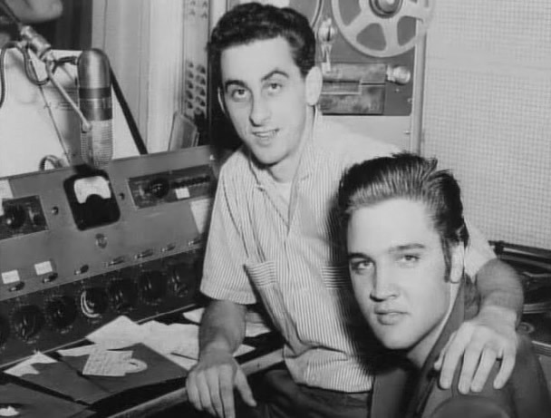 George Klein and Elvis Presley.