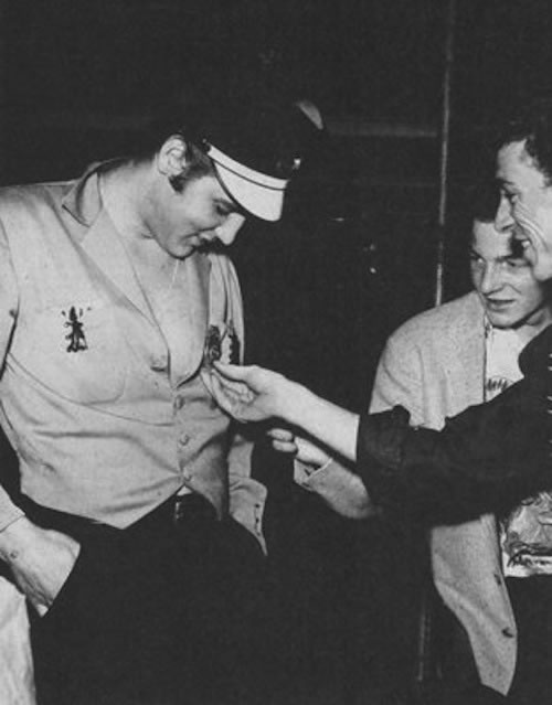 Elvis Presley, with Paul Peek, Gene Vincent in Los Angeles, CA - Sunday, September 30, 1956.