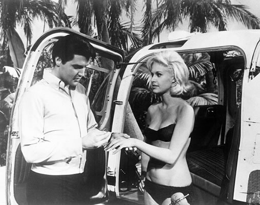 Elvis Presley and Suzanna Leigh | Publicity photo 'Paradise Hawaiian Style'.
