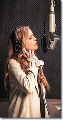 Lisa Marie recording her vocals.