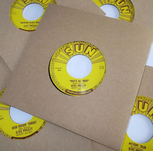 Elvis' Sun 45rpm 7 (inch) replica singles