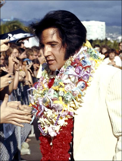 Elvis had just celebrated his 38th birthday on January 8.
