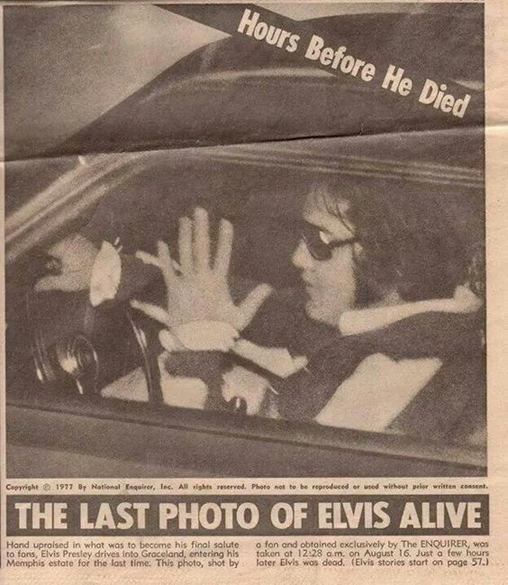 Elvis Presley | August 16, 1977 | The last photo taken.