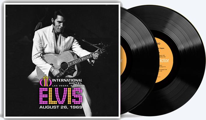 Elvis Live 1969 2 LP Vinyl Record Set