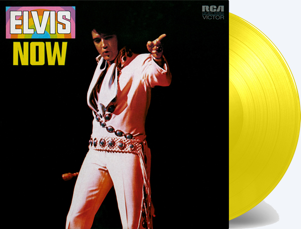 'Elvis Now' (Yellow Vinyl) LP Record from Sony Music.