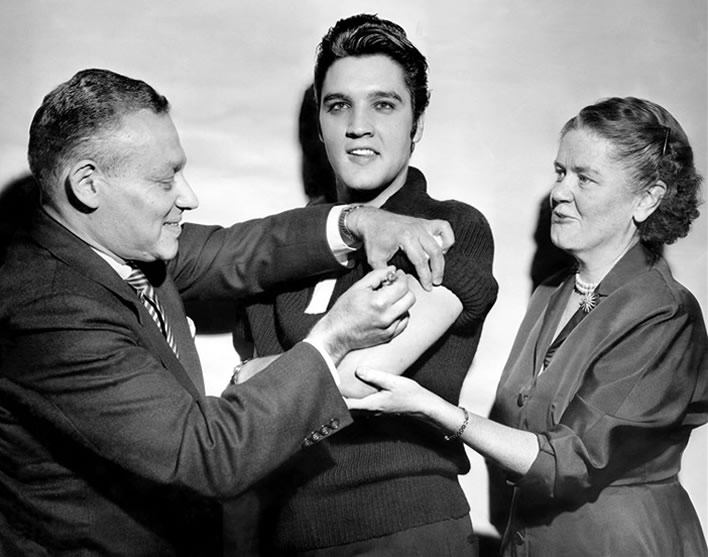 A jab for Elvis helped America beat polio