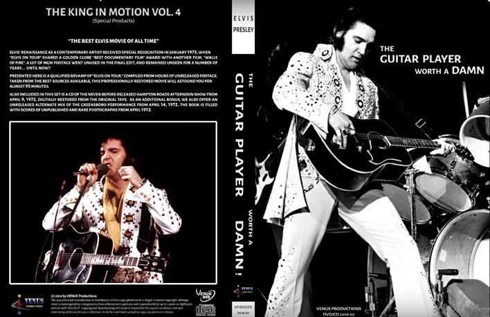 Elvis: 'The Guitar Player Worth A Damn' Book / DVD / CD Set from Venus