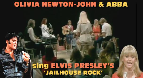 Elvis Presley and Olivia Newton-John