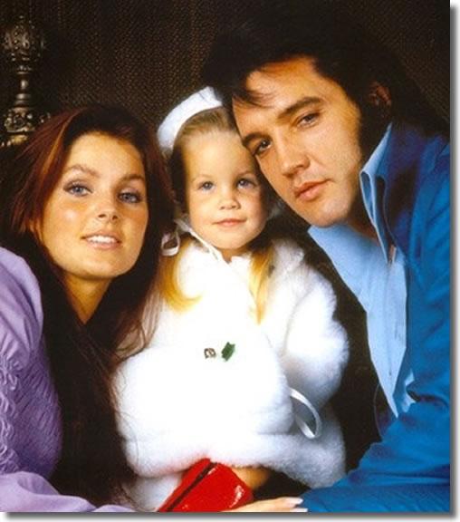 Priscilla, Lisa Marie & Elvis Presley
